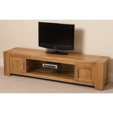 Kuba Solid Oak Widescreen TV Cabinet