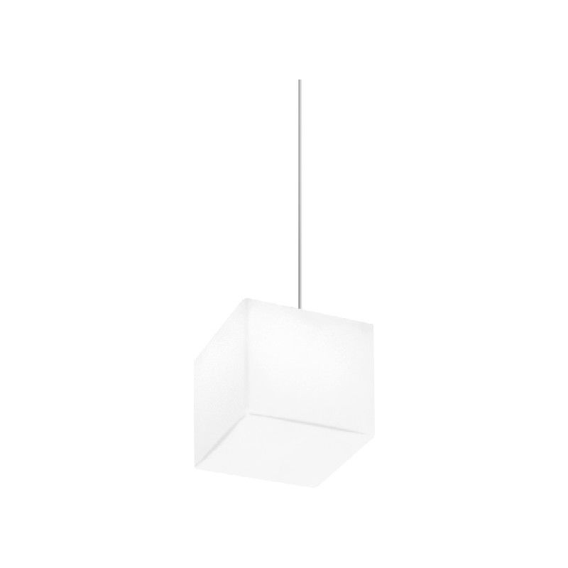 Homemania - Kubik Haengelampe - Kronleuchter - Deckenkronleuchter - Weiss, Grau aus Glas, 11 x 11 x 11 cm, 1 x E27, 9,5W, 220-240V