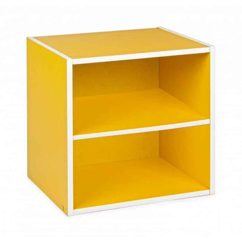 Kubus mit Ablage COMPOSITE Gelb - Fashion Commerce