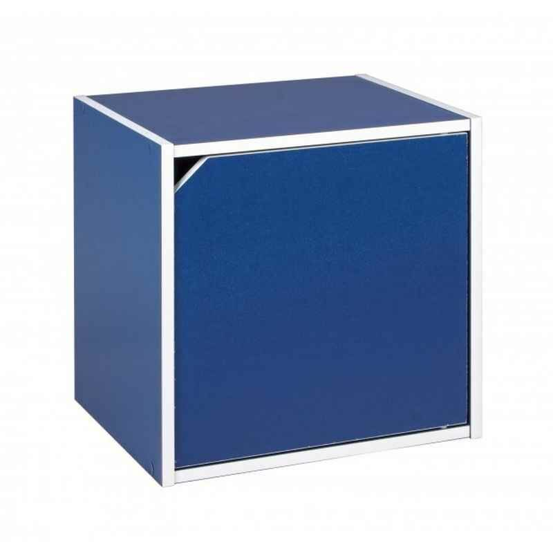 Kubus mit Tür COMPOSITE Blau - Fashion Commerce