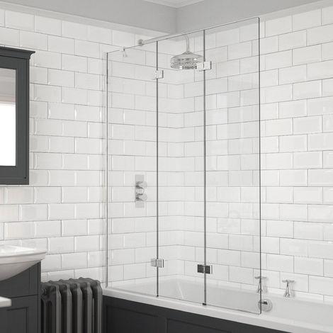 Kudos Inspire 6mm 1250mm Left Hand 3 Panel Infold Bath Screen - 4BASCTRIPLEPLHS
