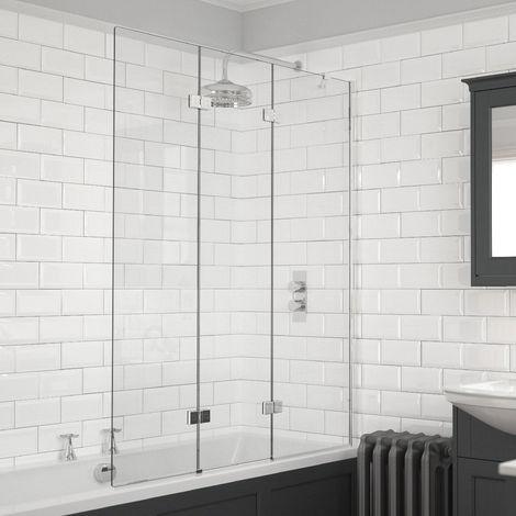 Kudos Inspire 6mm 1250mm Right Hand 3 Panel Infold Bath Screen - 4BASCTRIPLEPRHS