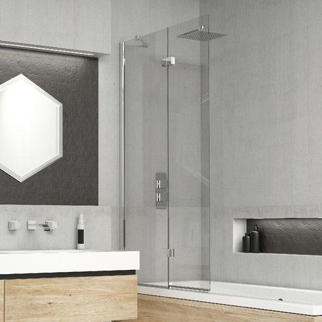 Kudos Inspire 6mm 875mm Left Hand 2 Panel Infold Bath Screen - 4BASCDUOLHS