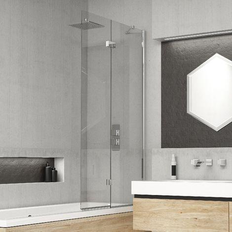 Kudos Inspire 6mm 875mm Right Hand 2 Panel Infold Bath Screen - 4BASCDUORHS