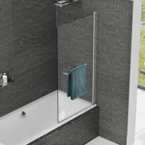 Kudos Inspire 8mm 850mm Bath Screen with Handle - 3BASC8S