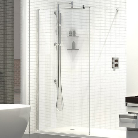 Kudos Ultimate 8mm 1200mm x 1952mm Wetroom Shower Screen - 5WP1200