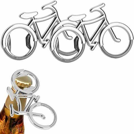 kueatily 2 Pièces Portable Vélo Créatif Bouteille Bière Opener Key Chain Créatif Décapsuleur Bière Porte-Clé Ouvre-Bouteille, Alliage de Zinc, Cadeau D'anniversaire pour Les Hipsters et Les Amateurs de Vélo