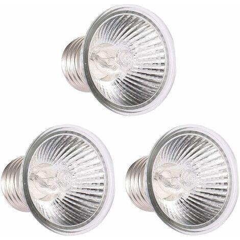 kueatily 25W Chaleur Lampe UVA UVB Lampe De Réchauffement Ampoule De Chauffage, pour Reptiles Lézard Tortue Aquarium (Ampoule * 3)