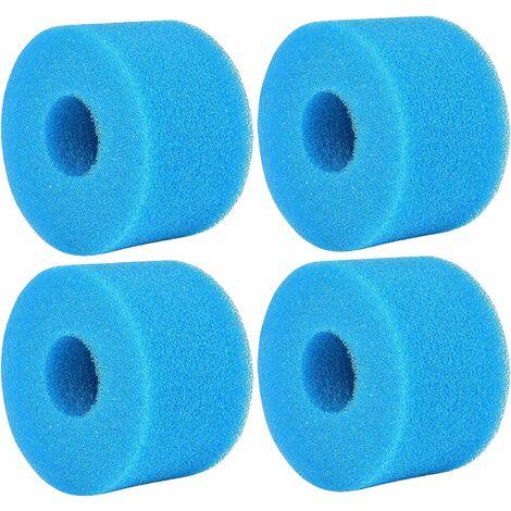 kueatily 4PCSÉponge Filtrante Type S1, Cartouche de Filtre en Mousse, Mousse pour Filtre Piscine, Réutilisables et Lavables, Filtre en Mousse pour Spa, Piscine, Jacuzzi