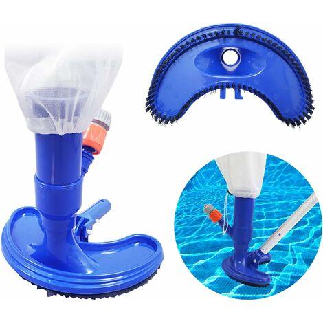 kueatily Aspirateur à vide pour piscine - Aspirateur précis pour piscine - Mini objets flottants - Outils de nettoyage - Suction Head - Fontaine - Nettoyeur de pinceau (sans barre)