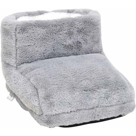 kueatily Chauffe-pieds électrique pour homme et femme - Bottes chauffantes pour pieds avec 3 réglages de température convient à tous les endroits, gris