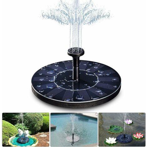 kueatily Fontaine solaire , pompe de bassin solaire 1,4 W avec 4 effets, hauteur maximale de 70 cm, pompe solaire, pompe de fontaine flottante solaire pour bassin de jardin ou bain d'oiseaux de fontaine d'aquarium
