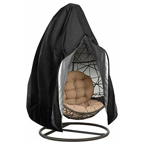 kueatily Housse de Chaise Suspendue Oxford de Protection imperméable à l'eau et à la poussière pour Patio, Chaise à Bascule, Chaise Flottante (Black)
