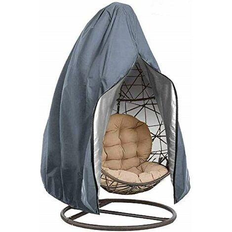 kueatily Housse de Chaise Suspendue Oxford de Protection imperméable à l'eau et à la poussière pour Patio, Chaise à Bascule, Chaise Flottante (gray)