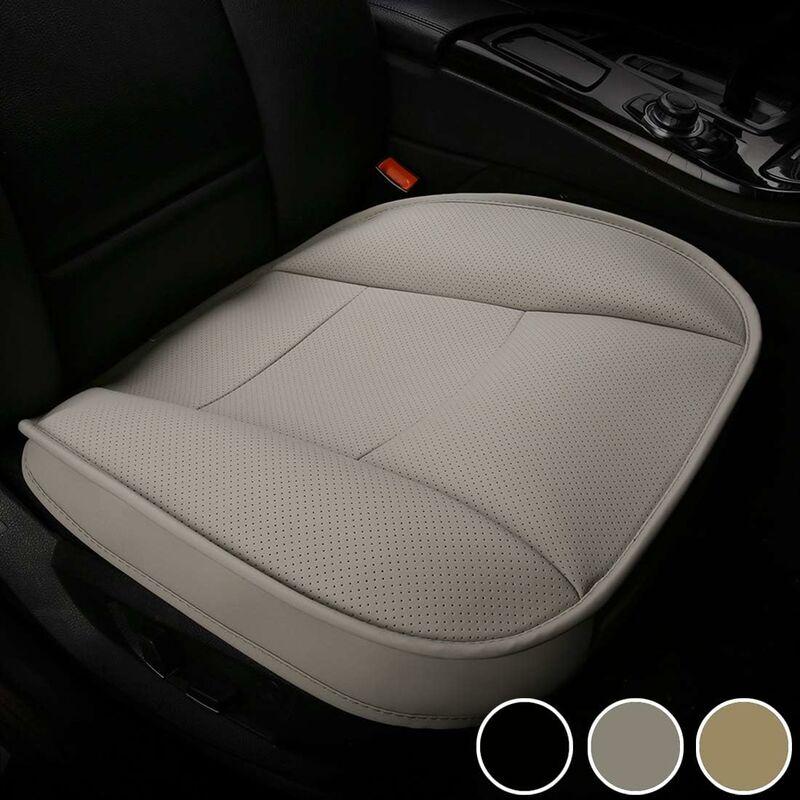 Housse de Siège Voiture Auto, Protecteur de Siège de Voiture Avant Super Doux Confort,Coussin de Siège Auto Respirant Cuir PU Étanche,50*50cm(1