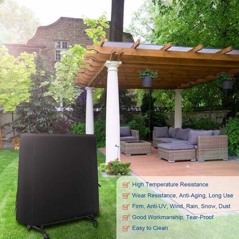 kueatily Housse de Table de Ping-Pong Couverture pour Table de Ping Pong Bâche Table de Ping Pong 420D Oxford Bâche de Protection Étanche Anti-UV Anti-poussière pour Intérieur/ Extérieur 185*70*165 cm