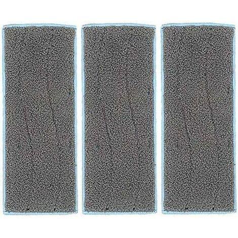 kueatily Lot de 3 tissus de nettoyage lavables de rechange pour aspirateur robot iRobot Braava Jet M6