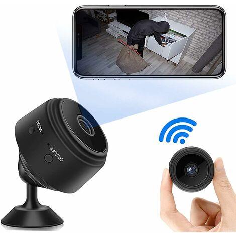 kueatily Mini Camera Cachée WiFi Petite, Full HD 1080P de Surveillance de Sécurité Bébé Caméra sans Fil avec Vision Nocturne et Détection de Mouvement Micro Caméra Intérieure/Extérieure