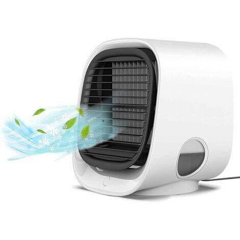 kueatily Mini Climatiseur Mobile, Refroidisseur d'aire 3 en 1 Ventilateur Climatiseur 3 Vitesses Climatiseur Portable Personnel Mini Climatiseur Silencieux pour Maison & Bureau
