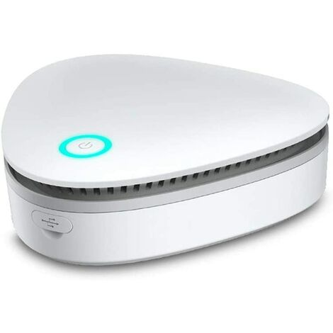 kueatily Mini générateur d'ozone, stérilisateur rechargeable USB pour réfrigérateur d'ozone, purificateur d'air, pour congélateur, armoire