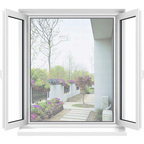 kueatily Moustiquaire pour fenêtre Blanc