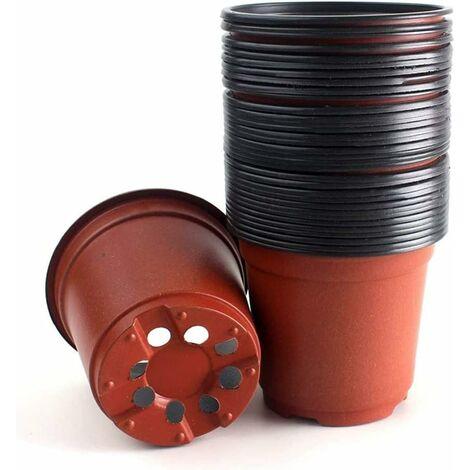 kueatily Pépinière Pots, 50pcs Semis Pépinière Pots Flowerpot Plant Container 8 CM pour Graine De Démarrage Fleur (Plastique)