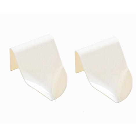 kueatily Porte-Savon pour Cuisine Salle de Bains Douche, Boîte à Savon Range-Savon Support de Savon Auto-drainant Plastique Mural (Blanc*2)