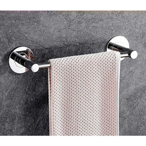 kueatily Porte-Serviettes en Acier Inoxydable, Cintre de Tour Mural/sans poinçon/Auto-adhésif/Un Coup/pour/Salle de Bain/Cuisine/Balcon/Bureau/Porte-Serviettes-30cm