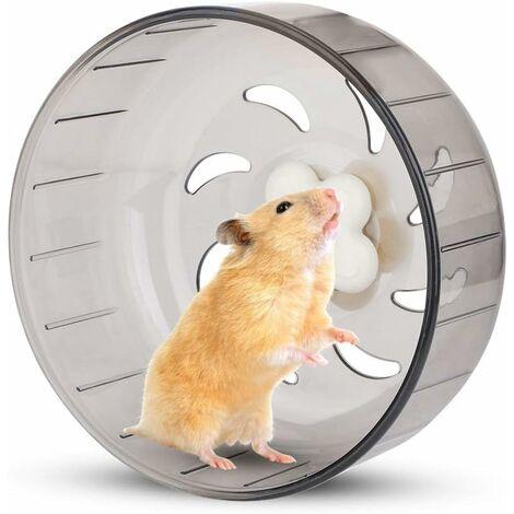 kueatily Roue de Course de Hamster, Roue de Hamster de 13 cm Petite Roue d'exercice de Hamster pour Animaux de Compagnie Jouet de Course en Plastique Silencieux pour Hamster Gerbille Cobaye