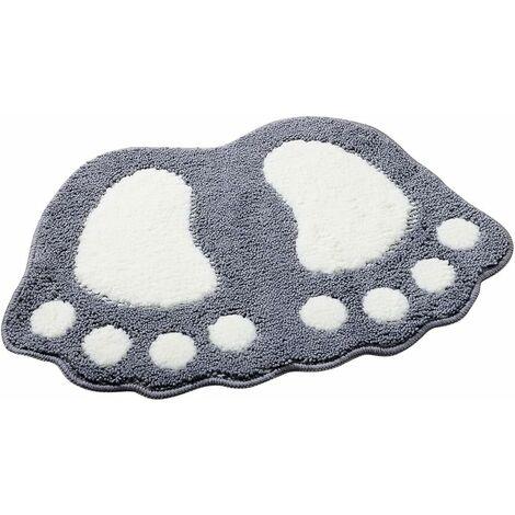kueatily Tapis de bain antidérapant Motif grands pieds Pour salle de bain, douche Absorbant-48*67CM