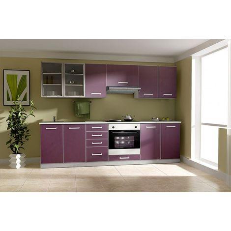 Küche Emma 260cm Küchenzeile Küchenblock Variabel Stellbar In
