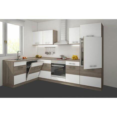 k che k ln 172x280 cm k chenzeile in sonoma eiche tr ffel. Black Bedroom Furniture Sets. Home Design Ideas
