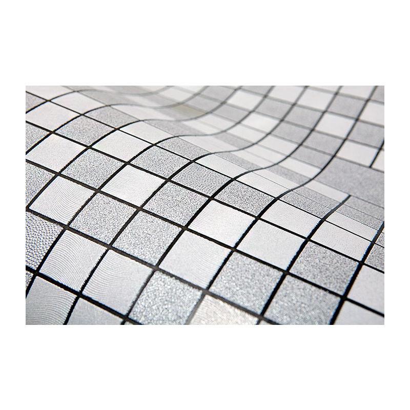 EDEM 1033-16 Küchen Bad Tapete Geometrisch Metallic Effekt silber platin 5,33 m2