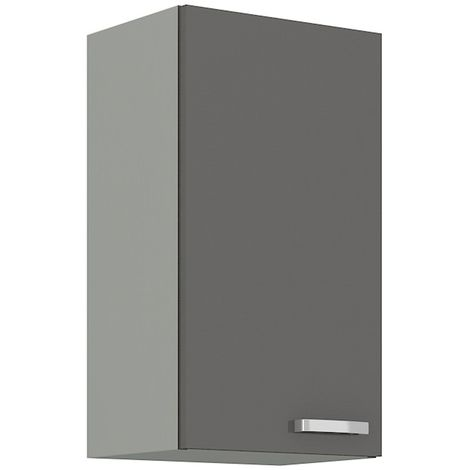 Küchen Hängeschrank 40 Grey Hochglanz Grau Küchenzeile Küchenblock Küche Vario
