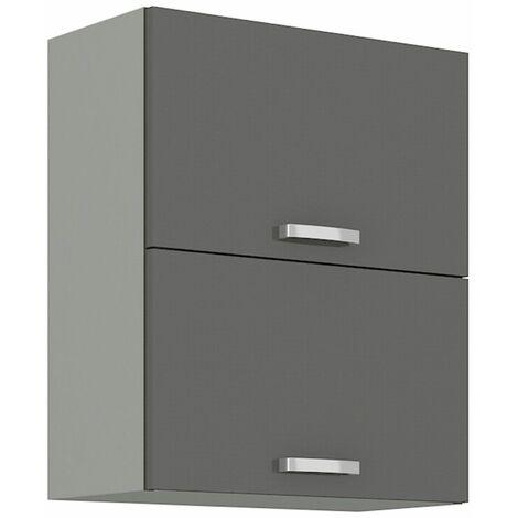 Küchen Hängeschrank 60 Grey Hochglanz Grau Küchenzeile Küchenblock Küche Vario
