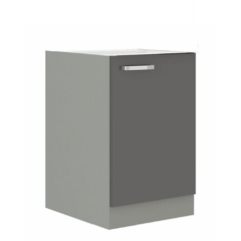 Küchen Unterschrank 40 Grey Hochglanz Grau Küchenzeile Küchenblock Küche Vario