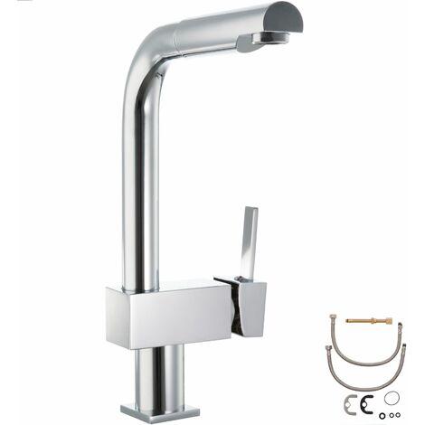 Küchenarmatur Einhandmischer - Waschtischarmatur, Spültischarmatur, Badarmatur - grau
