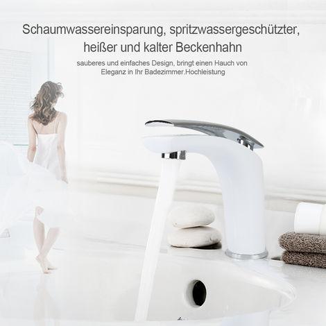 Küchenarmatur Einhebel Spültischarmatur anti Spritzendes Wasser Weiß