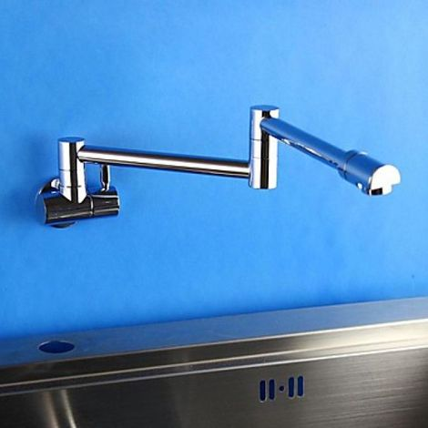 Küchenarmatur flexibel, modernes Design, verchromt