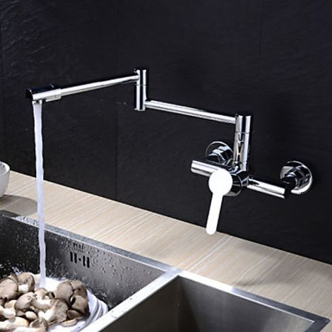 Küchenarmatur in einzigartigem Design, treppenförmig, verchromt