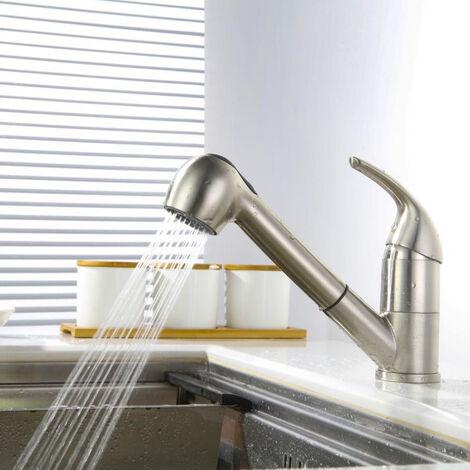 Küchenarmatur mit ausziehbarem brause Wasserhahn Küche Armatur Spülbeckenarmatur Spültisch Mischbatterie Spüle Einhebelmischer