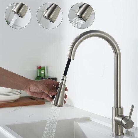 Bevorzugt Küchenarmatur Wasserhahn Armatur mit Ausziehbar Brause QK63