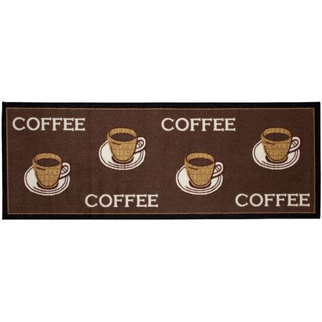 Küchenläufer waschbar Coffee Läufer Braun Öko-Tex verschiedene Größen