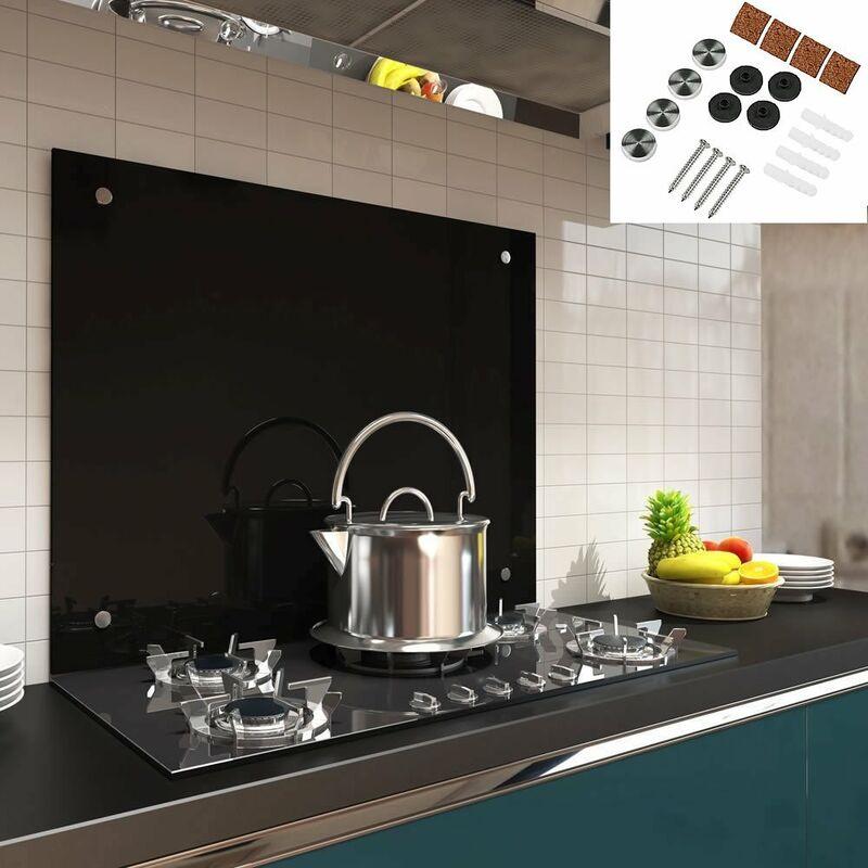 neu.haus ® Glas Küchenrückwand 70x50cm matt Herdspritzschutz Küche Spritzschutz