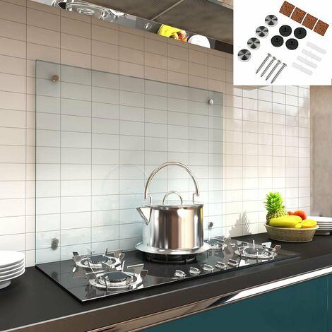 Küchenrückwand Spritzschutz Fliesenspiegel Küche Wandschutz Glas 6mm ESG Klarglas - 70x40CM