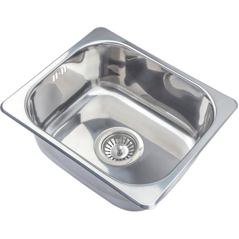 Kleines Spülbecken.Küchenspüle Einbauspülbecken Aus Edelstahl Maße 42x36 3cm A11 Mr