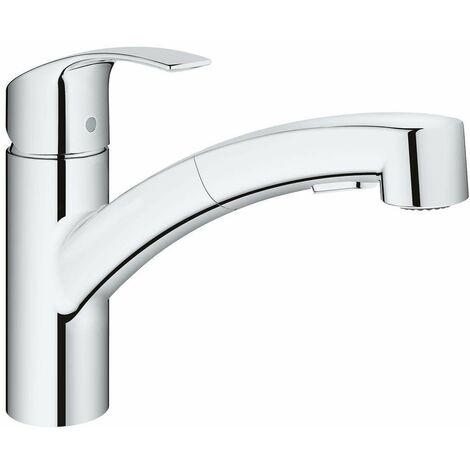 Küchenspülmischer mit ausziehbarer Dusche Grohe Eurosmart -30305000- | Chrom