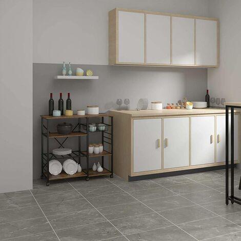 Küchenwagen aus Metall mit Korb Retro 90x40x83,5cm