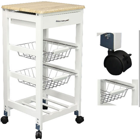 Küchenwagen Bambus L36xB36xH77cm-D61793