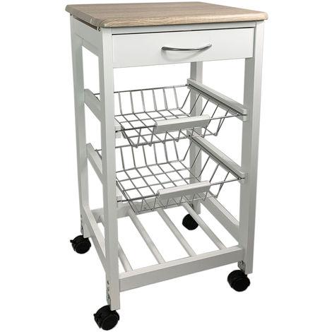 Küchenwagen Bambus L36xB36xH77cm-M61793